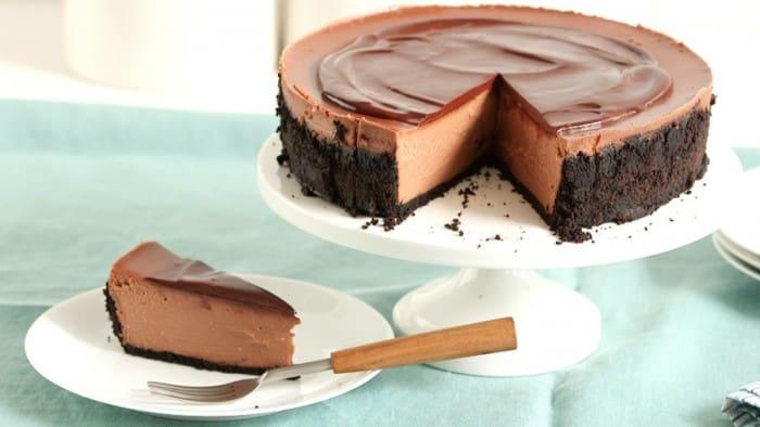 Triple Chocolate Cheesecake by Martha Stewart