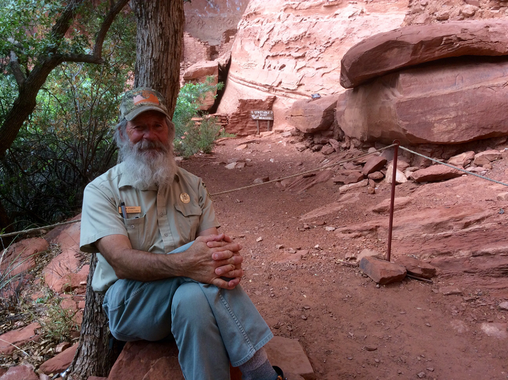 Ranger at Palatki Heritage Site in Sedona Arizona