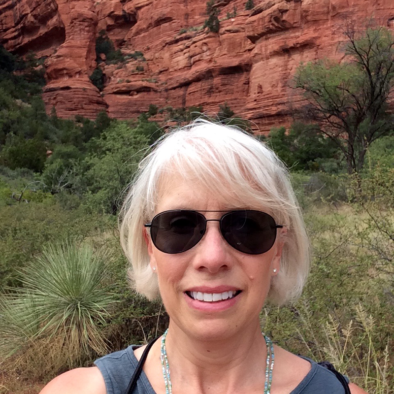 Suzi Wilson visiting the Palatki Heritage Site in Sedona Arizona